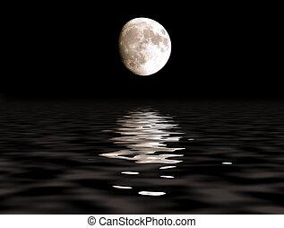 sentier, lune