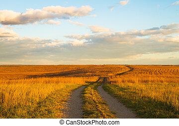 sentier, prairie, wah'kon-tah