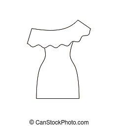 sentier, robe, illustration