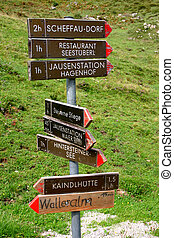 sentiero, signpost