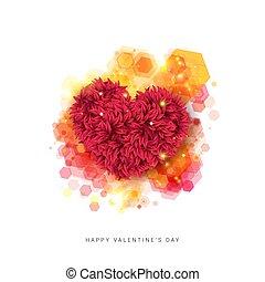 Sentimental Happy Valentines day card. Vector illustration....
