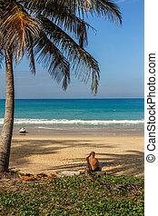 History Beach on Phuket Island in the beginning of the season