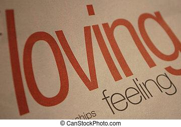 sentimento, amando