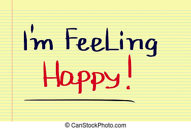sentimento, concetto, felice