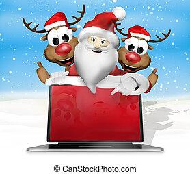 sentimento, natal, festivo