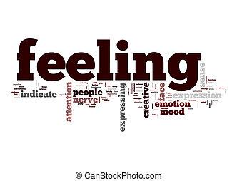sentimento, palavra, nuvem