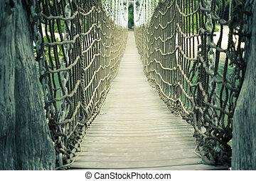 Sentosa rope bridge