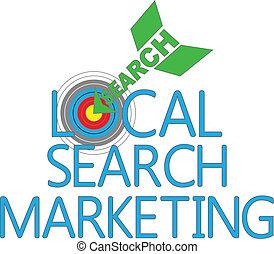 seo, マーケティング, 捜索しなさい, 支部, ターゲット