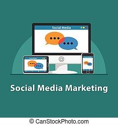 seo, 媒体, 社会, マーケティング