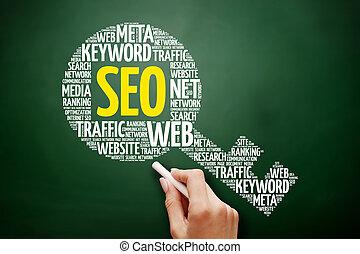 seo, -, 搜索引擎优化, 钥匙