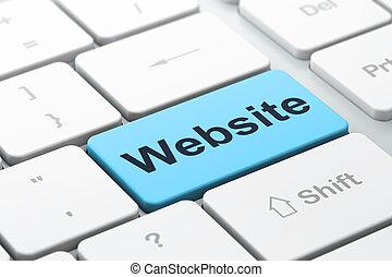 seo, 网發展, concept:, 計算机鍵盤, 由于, 詞, 網站, 選擇, 集中, 上, 進入, 按鈕, 背景,...