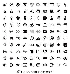 seo 100 icons set for web