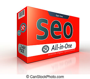 seo advertising red pack concept