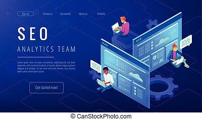 SEO analytics team landing page.