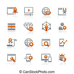 SEO and Digital Marketing Icons 2 of 2 // Graphite Series - ...