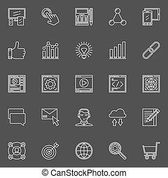 SEO and web optimization icons