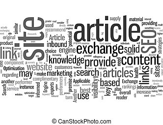 SEO Article Exchange text background wordcloud concept
