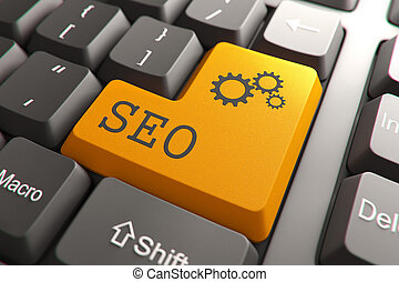 seo, button., clavier