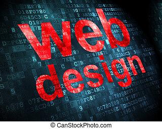 seo, cinche desarrollo, concept:, diseño telaraña, en, fondo digital