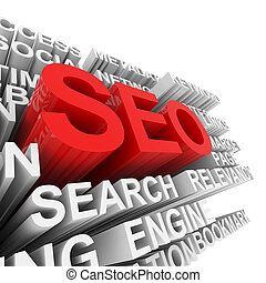 SEO concept. Computer generated image.