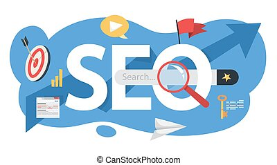 SEO concept. Idea of search engine optimization for website