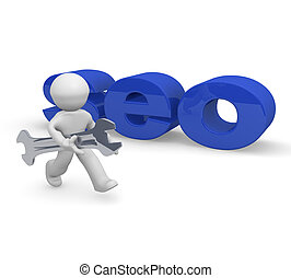 SEO concept image, 3d rendering