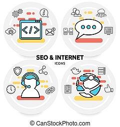 seo, concept, internet