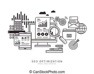 seo, concept, optimization