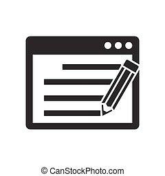 Seo copywriting icon