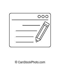 Seo copywriting line icon
