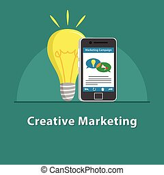 SEO Creative marketing in smartphone