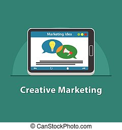 SEO Creative marketing in tablet