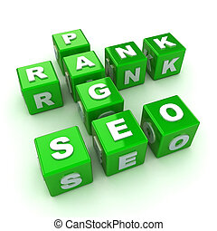 SEO Crossword Concept - A Colourful 3d Rendered SEO ...