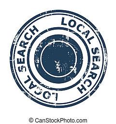 seo, estampilla, búsqueda, concepto, local
