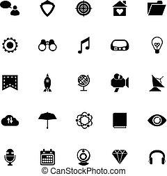 seo, fond blanc, icônes