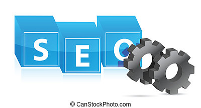 seo gears illustration design over