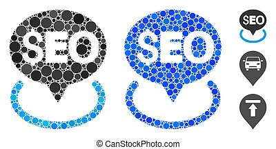 Seo Geotargeting Composition Icon of Round Dots - Seo ...