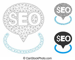 Seo Geotargeting Vector Mesh Carcass Model and Triangle ...