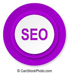 seo icon, violet button