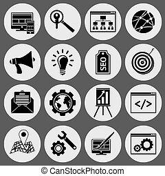 SEO icons black set