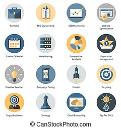 Seo Icons Set - Seo icons set with portfolio copywrighting ...