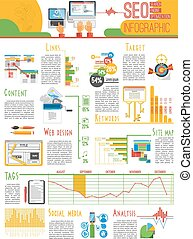 Seo infograhic report poster