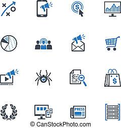 SEO & Internet Marketing Icons 3 - This set contains 16 SEO...