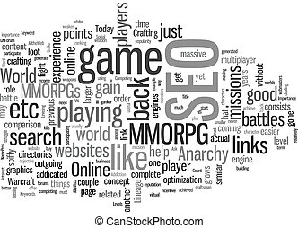 SEO Is A MMORPG text background wordcloud concept