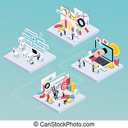 SEO Isometric Composition