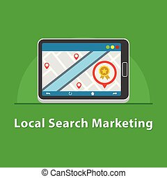 SEO Local marketing in tablet