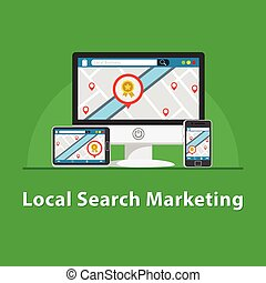 SEO Local marketing in various devices