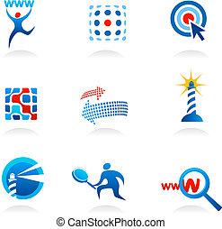 seo, logotipos, cobrança, ícones