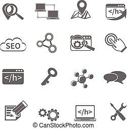 Seo Marketing Icons Set