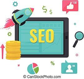 SEO, online marketing concept.